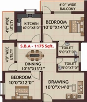 Khushi Harmony (2BHK+2T (1,175 sq ft) Apartment 1175 sq ft)