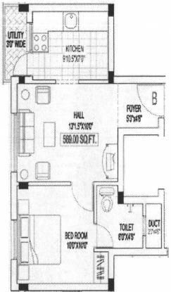 Building Lavender Home (1BHK+1T (589 sq ft) Apartment 589 sq ft)
