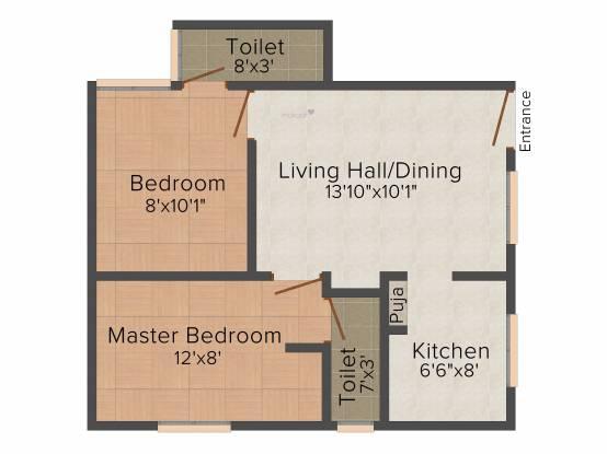 Himayam Annapoorna Apartments (2BHK+2T (580 sq ft) Apartment 580 sq ft)