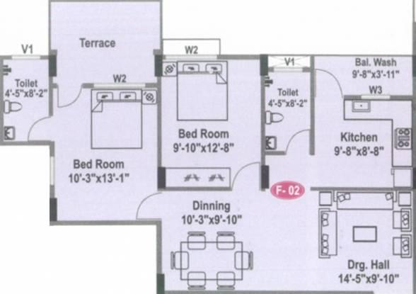 Gold Golden Park 1 (2BHK+2T (1,150 sq ft) Apartment 1150 sq ft)