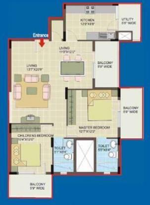 Dhammanagi Sri Rudraksh Residency (2BHK+2T (1,100 sq ft) Apartment 1100 sq ft)