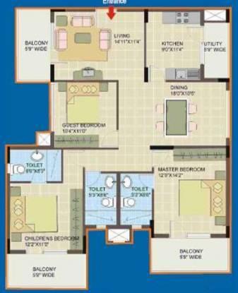 Dhammanagi Sri Rudraksh Residency (3BHK+3T (1,920 sq ft) Apartment 1920 sq ft)