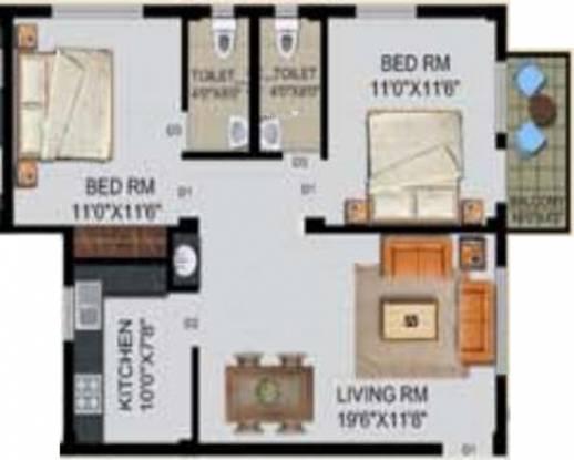 Whitepaper The Landmark (2BHK+2T (1,000 sq ft) Apartment 1000 sq ft)