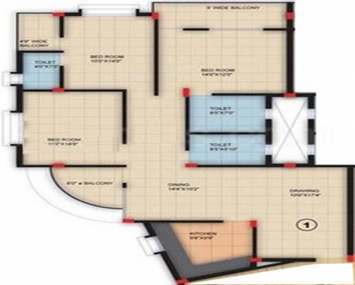 Shree Annpurna Banamali Basera (3BHK+3T (1,595 sq ft) Apartment 1595 sq ft)