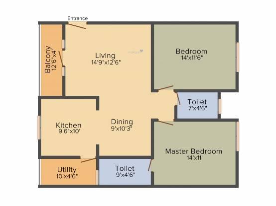 5 Elements Saketh HIllside (2BHK+2T (1,215 sq ft) Apartment 1215 sq ft)