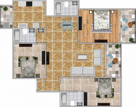 Ajmera Arista (3BHK+3T (1,984 sq ft) Apartment 1984 sq ft)