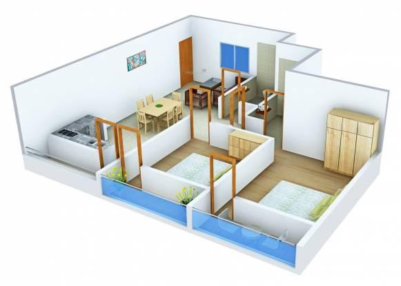 Innovative Aqua Front (2BHK+2T (1,180 sq ft) Apartment 1180 sq ft)