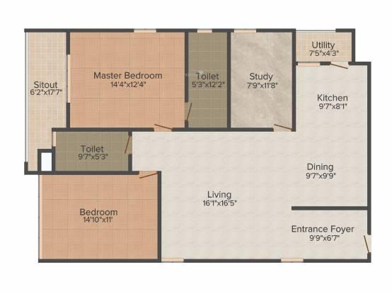 Phoenix Golf Edge (2BHK+2T (1,717 sq ft) + Study Room Apartment 1717 sq ft)