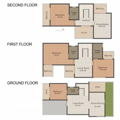 J K Suchiraa Villas (4BHK+4T (2,185 sq ft) Villa 2185 sq ft)