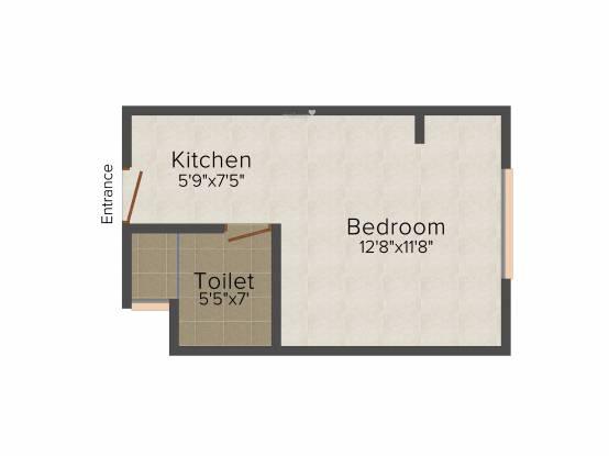 Balaji Kingston Palace (1BHK+1T (395 sq ft) Apartment 395 sq ft)