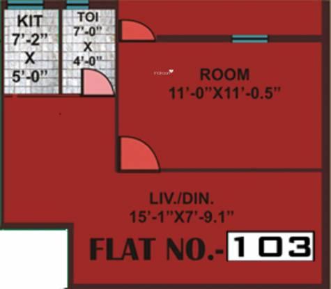 Parivar Renest (1BHK+1T (515 sq ft) Apartment 515 sq ft)