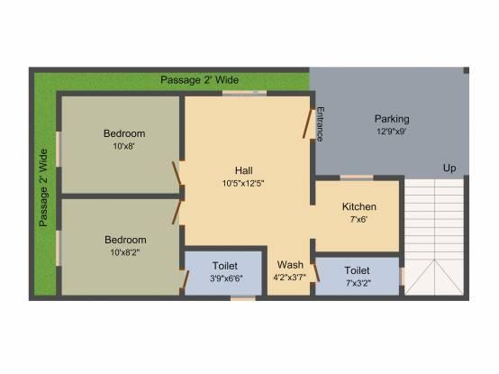 Nellai Enatiya (2BHK+2T (660 sq ft) Villa 660 sq ft)