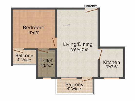 Soham Revu Estate (1BHK+1T (650 sq ft) Apartment 650 sq ft)