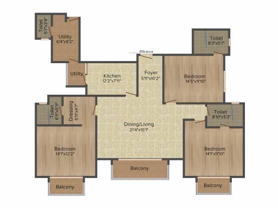 ATS Le Grandiose (3BHK+3T (2,000 sq ft)   Servant Room Apartment 2000 sq ft)