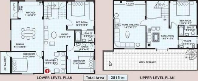 Amrutha Sparkling Nest (4BHK+4T (2,815 sq ft) Apartment 2815 sq ft)