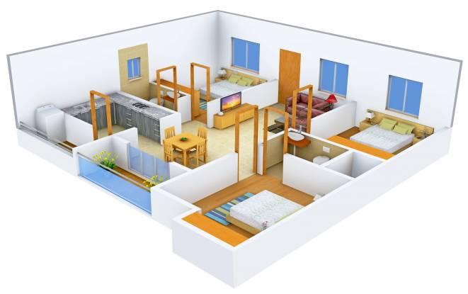 DS DSMAX STARWOOD (3BHK+2T (1,365 sq ft) Apartment 1365 sq ft)