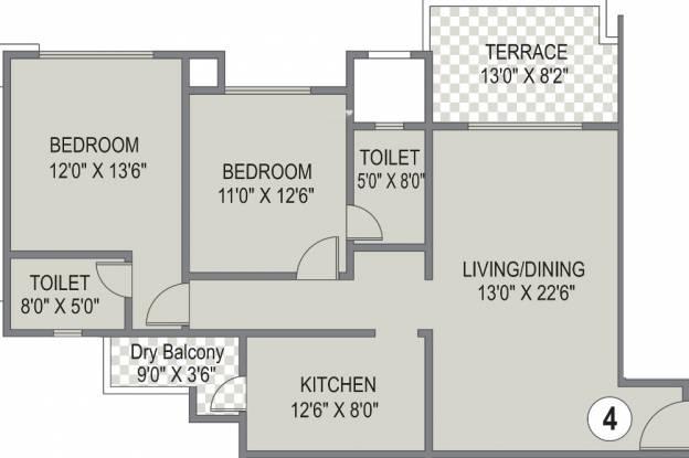 Karia Konark Bella Vista (2BHK+2T (1,380 sq ft) Apartment 1380 sq ft)