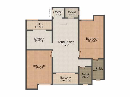 Hari Somu Avarampoo (2BHK+2T (1,211 sq ft) Apartment 1211 sq ft)