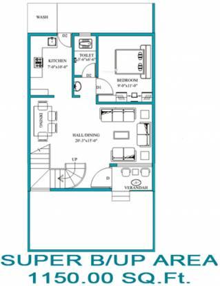 Neel Neel Vihar Villas (3BHK+3T (1,150 sq ft) Villa 1150 sq ft)