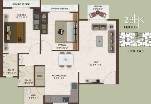 Rajhans Platinum Residency (2BHK+2T (1,170 sq ft) Apartment 1170 sq ft)
