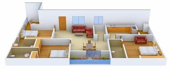 Pavan Meadows (3BHK+3T (2,095 sq ft) Apartment 2095 sq ft)