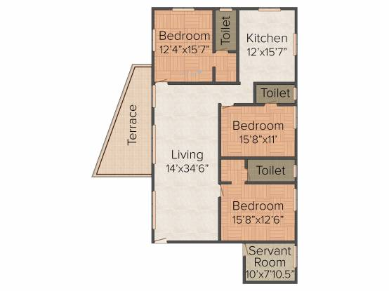Gear up Belvedere Court (3BHK+3T (2,420 sq ft) Apartment 2420 sq ft)
