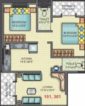 Tapkir Madhuvishwa (2BHK+2T (860 sq ft) Apartment 860 sq ft)