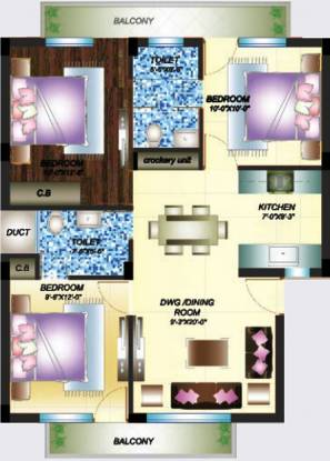 Primary Dream Homes (3BHK+2T (1,350 sq ft) Apartment 1350 sq ft)