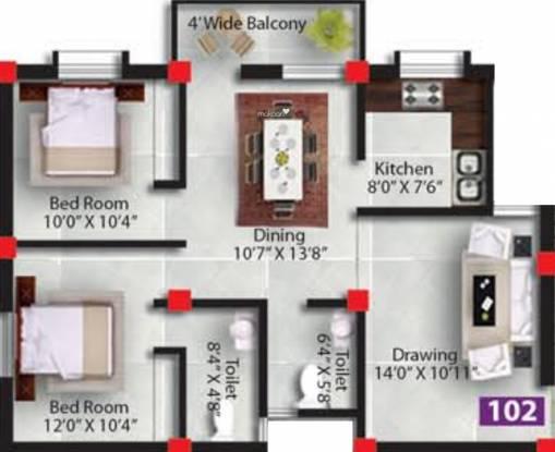 Satyabadi Residency (2BHK+2T (1,100 sq ft) Apartment 1100 sq ft)