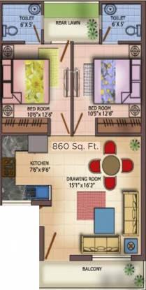Comfy Homes (2BHK+2T (860 sq ft) Apartment 860 sq ft)