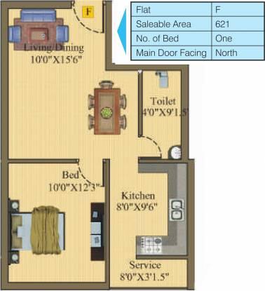 Sri Atreya Apartments (1BHK+1T (621 sq ft) Apartment 621 sq ft)