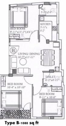 Sanycons Castle (3BHK+2T (1,080 sq ft) Apartment 1080 sq ft)