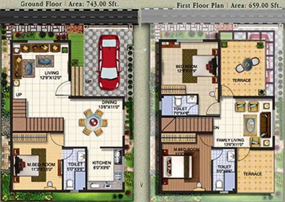 Revival Wave City (3BHK+3T (1,402 sq ft) Villa 1402 sq ft)