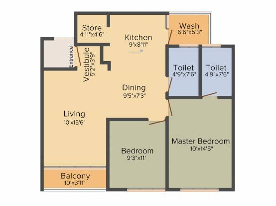 Vishwanath Sopan (2BHK+2T (1,315 sq ft) Apartment 1315 sq ft)