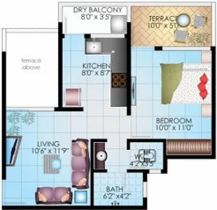 Dreams Camellia (1BHK+1T (483 sq ft) Apartment 483 sq ft)