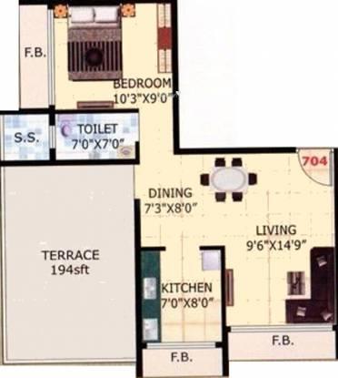 Jalaram Bhaveshwar Apartment (1BHK+1T (495 sq ft) Apartment 495 sq ft)