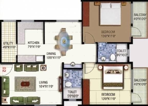 Shakthi Silver Springs (2BHK+2T (1,095 sq ft) Apartment 1095 sq ft)