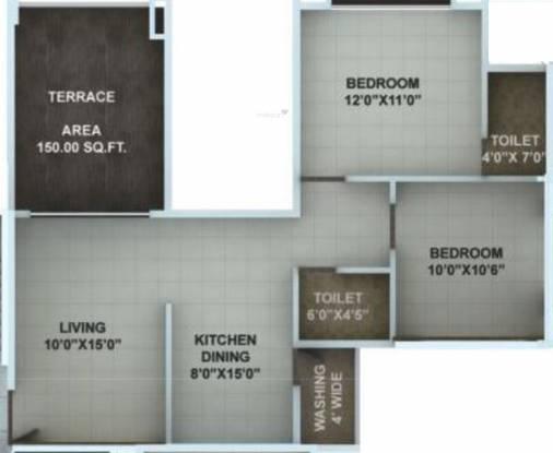 Abhijit Jayanti Nagri V (2BHK+2T (850 sq ft) Apartment 850 sq ft)