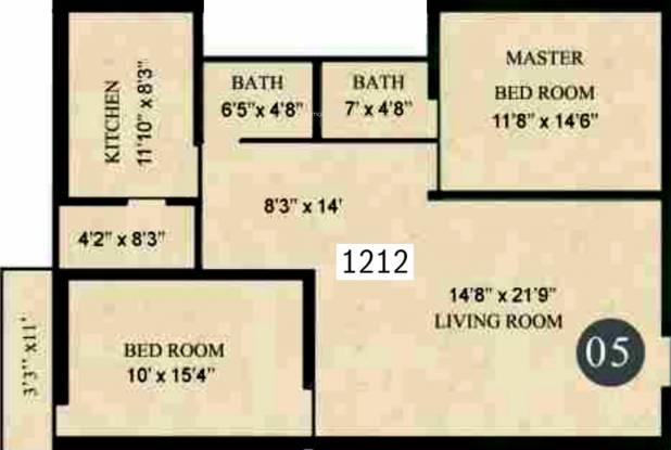 Lorven Leo (2BHK+2T (1,212 sq ft) Apartment 1212 sq ft)