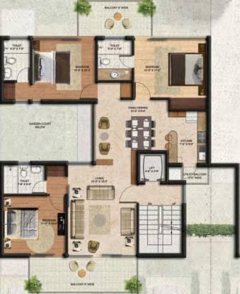 BPTP Amstoria Country Floor (3BHK+3T (2,147 sq ft) Apartment 2147 sq ft)