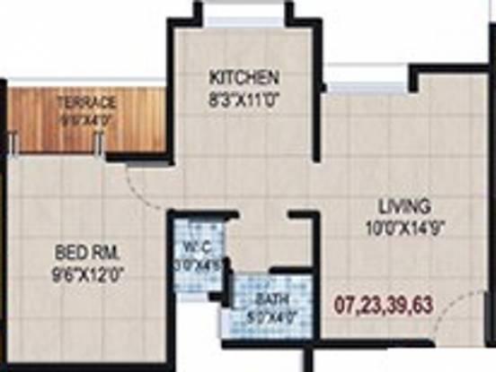 Jay Vijay Galaxy (1BHK+1T (586.31 sq ft) Apartment 586.31 sq ft)