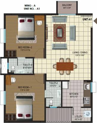 Alps Pleasanton (2BHK+2T (1,131 sq ft) Apartment 1131 sq ft)