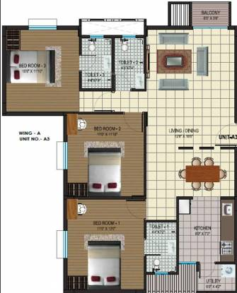Alps Pleasanton (3BHK+3T (1,460 sq ft) Apartment 1460 sq ft)