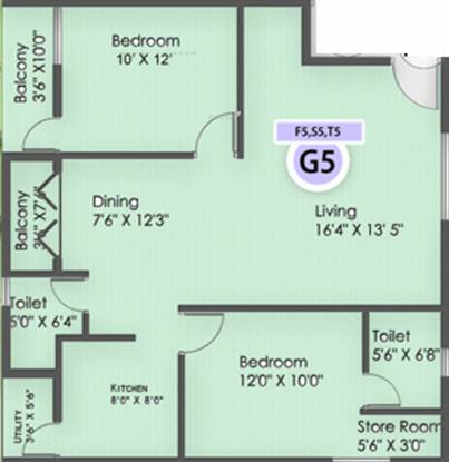 Reddy Renuga (2BHK+2T (1,110 sq ft) Apartment 1110 sq ft)