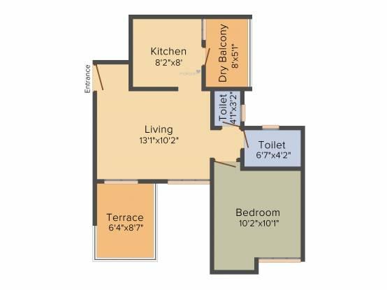 Choice Goodwill Nirmiti (1BHK+1T (650 sq ft) Apartment 650 sq ft)