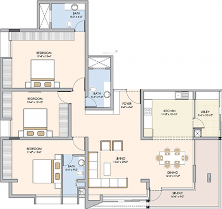 Spectra Orchid (3BHK+3T (2,000 sq ft) Apartment 2000 sq ft)