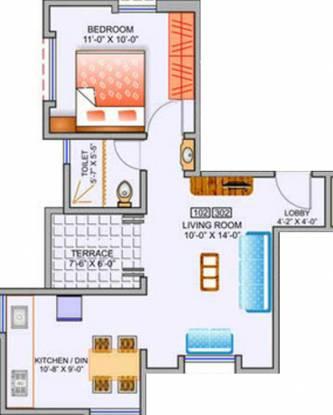 Behede Prisa (1BHK+1T (414 sq ft) Apartment 414 sq ft)