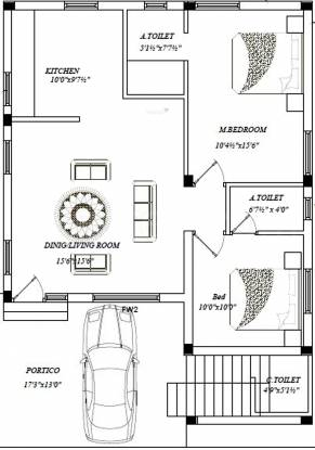 PMB Adithyaa Enclave (2BHK+2T (1,120 sq ft) Villa 1120 sq ft)