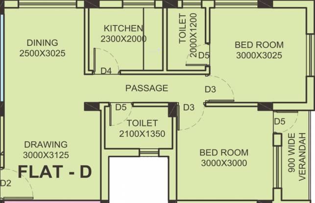 FTC Sunshine Regent (2BHK+2T (785 sq ft) Apartment 785 sq ft)