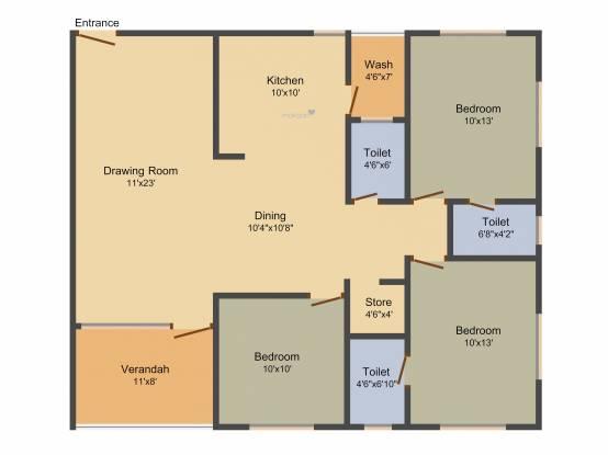 Sadguru Sharan (3BHK+3T (1,944 sq ft) Apartment 1944 sq ft)